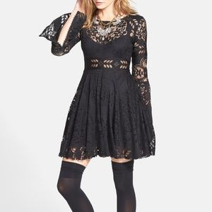 Free People folk song lace dress